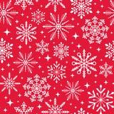 Seamless christmas snowflake background Royalty Free Stock Photos