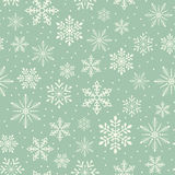 Seamless christmas snowflake background Stock Photo