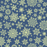 Seamless Christmas snowflake pattern. EPS 10 Royalty Free Stock Photo