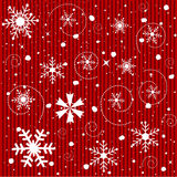 Seamless Christmas Snowflakes Background Stock Photos