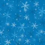 Seamless Christmas snowflakes Royalty Free Stock Images