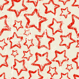 Seamless christmas star pattern Royalty Free Stock Photography