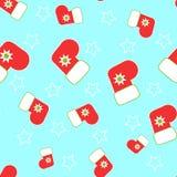 Seamless Christmas stocking. On a blue background Royalty Free Stock Photos