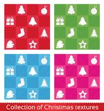 Seamless christmas texture pattern. Vector set. Royalty Free Stock Image