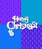 Seamless Christmas texture with typescript Royalty Free Stock Photography