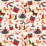 Seamless Christmas traditional pattern. New Year holiday Stock Image