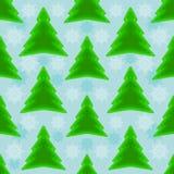 Seamless Christmas tree background Stock Photos