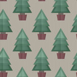 Seamless Christmas Tree Background Stock Photography