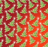 Seamless christmas tree illustration design Royalty Free Stock Image