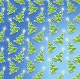 Seamless christmas tree illustration design Royalty Free Stock Photo