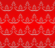 Seamless Christmas Tree Pattern Royalty Free Stock Images