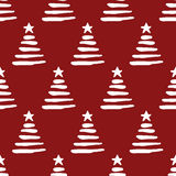Seamless christmas tree pattern. Seamless pattern, christmas tree art  background design for fabric and decor Stock Images