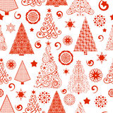 Seamless Christmas Tree Pattern Royalty Free Stock Photos
