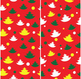 Seamless Christmas tree pattern. Simple seamless Christmas tree patterns for background, wallpaper. winter theme Stock Image