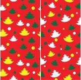 Seamless Christmas tree pattern Stock Image