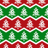 Seamless Christmas tree pattern Stock Image