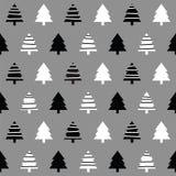 Seamless Christmas Trees1 Royalty Free Stock Photos