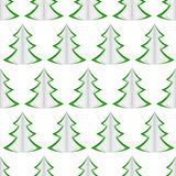 Seamless of christmas trees Royalty Free Stock Images