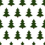 Seamless of christmas trees Royalty Free Stock Image