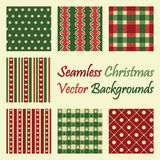 Seamless christmas vector backgrounds. Collection of seamless christmas vector backgrounds Royalty Free Stock Photo