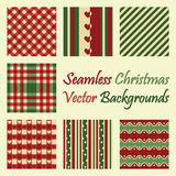 Seamless christmas vector backgrounds. Seven seamless christmas vector backgrounds Stock Images