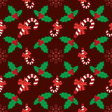 Seamless christmas vector illustration background Stock Image