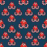 Seamless christmas vector illustration background Royalty Free Stock Image