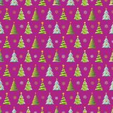 Seamless Christmas vector pattern with colorful fir-trees. Seamless Christmas vector pattern with colorful fir-trees Royalty Free Stock Photos