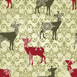 Seamless Christmas  Wallpaper Royalty Free Stock Images