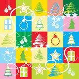 Seamless Christmas wallpaper Stock Photo