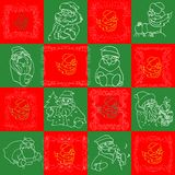 Seamless Christmas Wallpaper Pattern art Royalty Free Stock Image