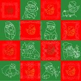Seamless Christmas Wallpaper Pattern art Royalty Free Stock Image