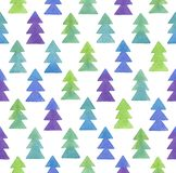 Seamless Christmas watercolor pattern. Stock Photography