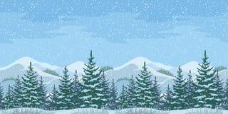 Free Seamless Christmas Winter Landscape Stock Photos - 60931553