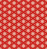 Seamless Christmas Winter Pattern with Snowflakes  on Re Royalty Free Stock Photo