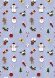 Seamless Christmas Wrapping Royalty Free Stock Images