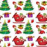 Seamless christmas wrapping Stock Images