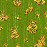 Seamless Christmass pattern with same symbols Royalty Free Stock Photo