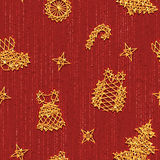Seamless Christmass pattern with same symbols Stock Photos