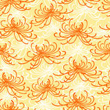 Seamless chrysantemum pattern Royalty Free Stock Photo