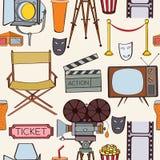Seamless cinema pattern Royalty Free Stock Photography