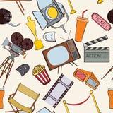 Seamless cinema pattern Royalty Free Stock Photos
