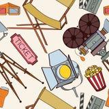 Seamless cinema pattern Stock Photography