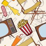 Seamless cinema pattern Stock Image