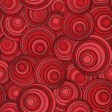Seamless circle background. Retro black and red seamless circle background Stock Image