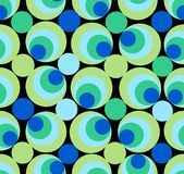 Seamless circle background in green and blue Royalty Free Stock Images