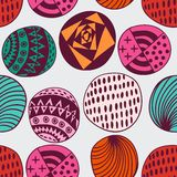 Seamless circle background, seamless pattern with round shapes Stock Photos