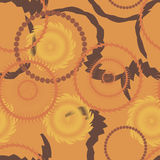 Seamless circle background, seamless pattern with round shapes. Stock Image