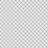 Seamless Circle Black and White Sea Shell Geometric Vector Pattern for Backg Royalty Free Stock Photo