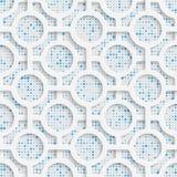 Seamless Circle Design. Futuristic Tile Pattern Stock Photos